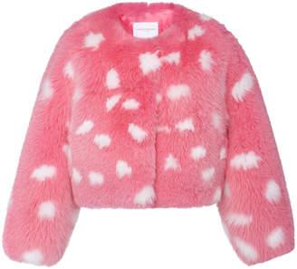 Carolina Herrera Polka Dot Fox Fur Jacket