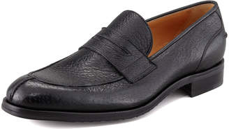 Gravati Split-Toe Peccary Penny Loafer, Black
