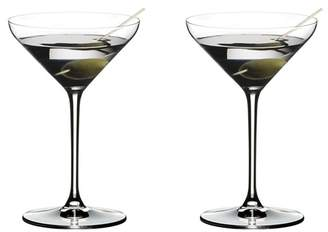 Riedel Set Of 2 Crystal 'Extreme' Martini Cocktail Glasses