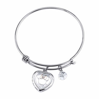 DISNEY Disney Womens Minnie Mouse Silver Over Brass Charm Bracelet $19.99 thestylecure.com