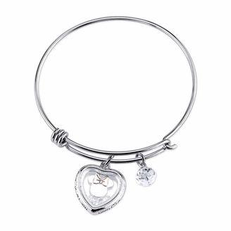 DISNEY Disney Womens Minnie Mouse Silver Over Brass Charm Bracelet $60 thestylecure.com