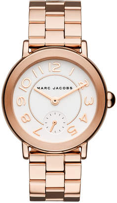 Marc Jacobs Women's Riley Rose Gold-Tone Stainless Steel Bracelet Watch 36mm