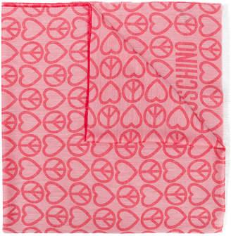 Moschino jacquard scarf