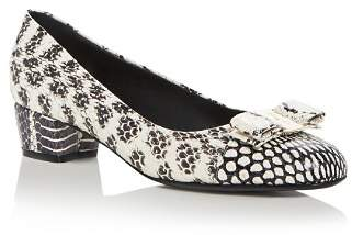 Salvatore Ferragamo Women's Vara Block-Heel Pumps