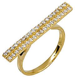 ADI Paz Crystal Double Row Bar Ring, 14K Gold