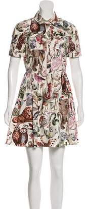 Valentino Roman Safari Print Mini Dress