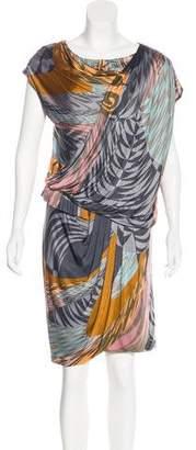 Matthew Williamson Printed Drape Dress