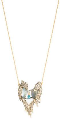 Alexis Bittar Lovebirds Crystal Encrusted Pendant Necklace