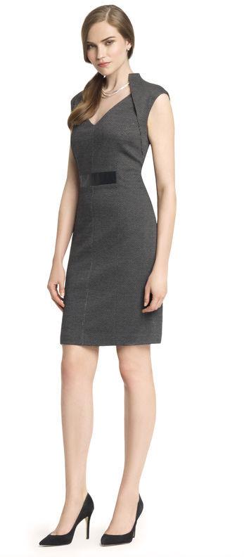Anne Klein Herringbone Sheath Dress