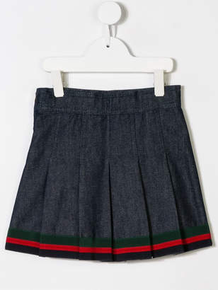 Gucci Kids Bunny embroidery skirt