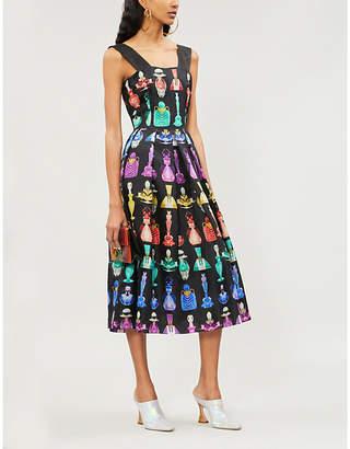 Mary Katrantzou Crystal perfume bottle-print silk-organza dress