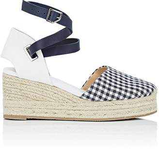 Rag & Bone Women's Kea Gingham & Leather Espadrille Sandals
