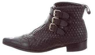 Tabitha Simmons Leather Quilted Ankle Boots
