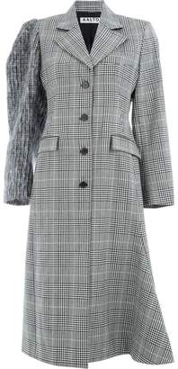 Aalto checked single-breasted coat