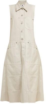 MM6 MAISON MARGIELA Button Down Denim Midi Dress - Womens - Beige