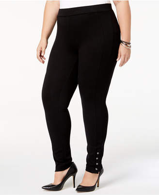 Style&Co. Style & Co Plus Size Ponte Knit Snap-Bottom Leggings
