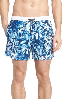 Men's Boss Mandarinfish Floral Swim Trunks $84 thestylecure.com