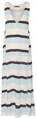 Vix Siena Printed Voile Midi Dress - White