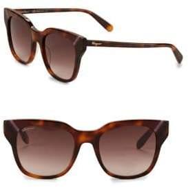 Salvatore Ferragamo 50mm Square Tortoise Sunglasses