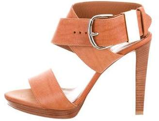 Balenciaga Leather Crossover Sandals