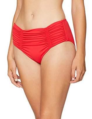 Seafolly Women's Gathered Front Retro Pant Bikini Bottoms,(Manufacturer Size: 44)