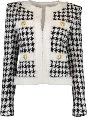 Balmain Straight Pocket Houndstooth Jacket
