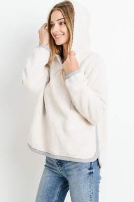 Paper Crane Faux Fur Sweater