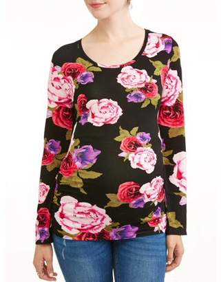 1c8a24c3ae895 great liz lange maternity side ruched long sleeve floral top with lange tops