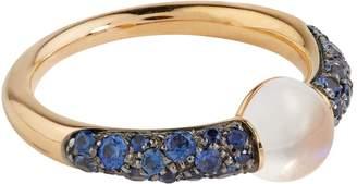 Pomellato Rose Gold, Sapphire and Moonstone M'ama Non M'ama Ring