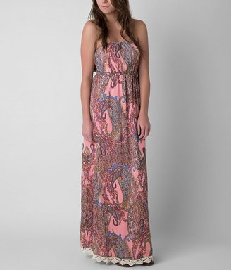 Fire Printed Tube Top Maxi Dress $46.95 thestylecure.com