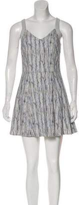 Theyskens' Theory Abstract Print Sleeveless Mini Dress