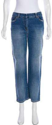 Valentino Mid-Rise Straight-Leg Jeans w/ Tags