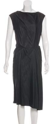 Dries Van Noten Sleeveless Midi Dress Black Sleeveless Midi Dress