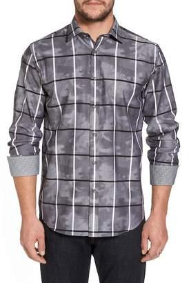 Bugatchi Camo Grid Regular Fit Sport Shirt