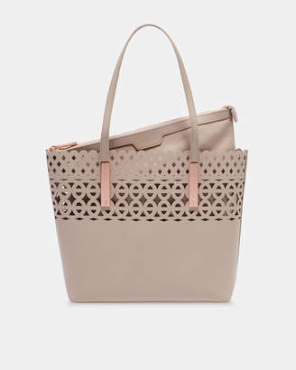 Ted Baker SYLVIEE Cut out detail leather shopper bag