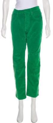 Dolce & Gabbana Corduroy Mid-Rise Straight-Leg Pants