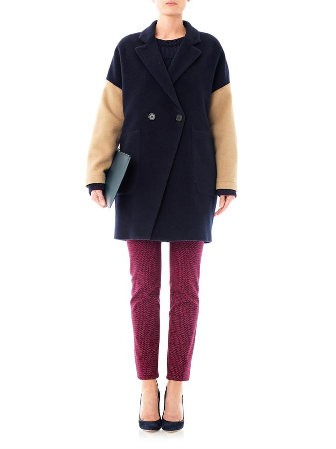 Band Of Outsiders Contrast sleeve wool coat