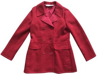 Cacharel Red Cotton Coat for Women