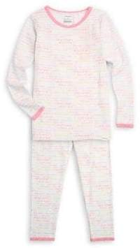 Calvin Klein Little Girl's& Girl's Two-Piece Tee& Pants Pajama Set