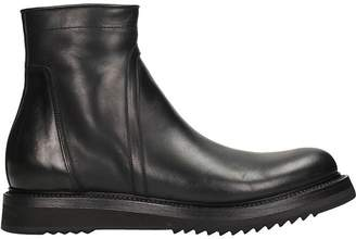 Rick Owens Creeper Sole Black Leather Boots