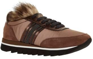 Brunello Cucinelli Fur Trim Sneakers