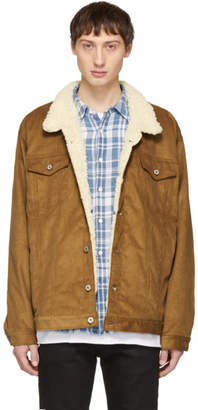 Naked & Famous Denim Denim Brown Oversized Corduroy Sherpa Jacket