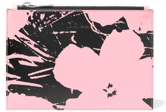 Calvin Klein Andy Warhol Foundation Printed Leather Pouch - Pink