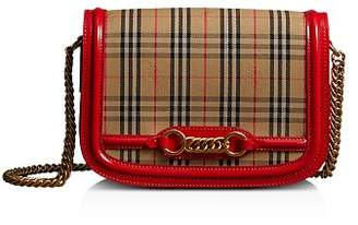 Burberry 1983 Check Link Medium Fabric & Patent Leather Shoulder Bag