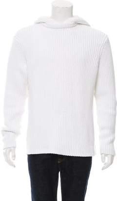 Michael Kors Woven Rib Knit Hoodie