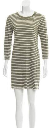 Current/Elliott Long Sleeve Striped Dress
