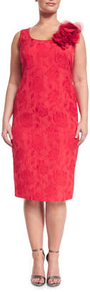Marina Rinaldi Dylan Sleeveless Floral Jacquard Sheath Dress, Plus Size