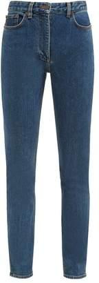The Row Kate High Rise Slim Leg Jeans - Womens - Blue