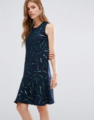YMC Gummy Print Wool Drop Hem Dress