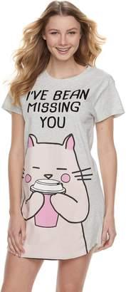 Peace Love & Fashion Juniors' Peace, Love & Fashion Graphic Sleepshirt
